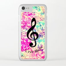 Music-294 Clear iPhone Case