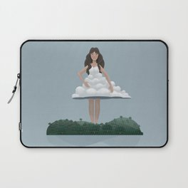 Cloud and woman Laptop Sleeve