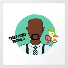 Terry Jeffords Art Print