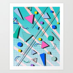 80s pop retro 4 Art Print