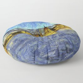 Budapest Vincent Van Gogh Floor Pillow
