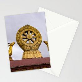 Tibet: Rooftop Dharma wheel Stationery Cards