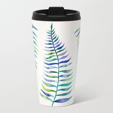 Indigo Palm Leaf Travel Mug