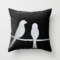 Birds for Bella by Dani Throw Pillow