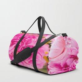Large Pink Peony Flowers #decor #society6 #buyart Duffle Bag