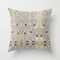 blueprint Throw Pillows featuring Blueprint Pods by Finn Wild