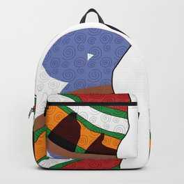 Girl Silhouette with Shapes II Backpack