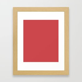 English Vermillion - solid color Framed Art Print
