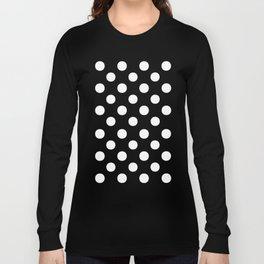 Polka Dots (White/Teal) Long Sleeve T-shirt