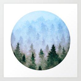 Watercolor Woods Art Print