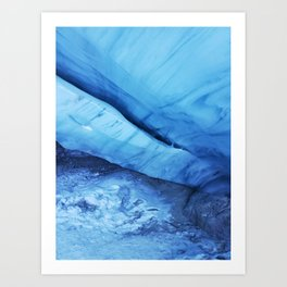 Blue ice of Blackcomb Glacier Ice Cave Art Print