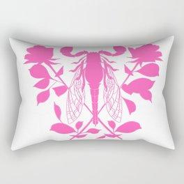 Pink locust of locust Tattoo w roses Rectangular Pillow