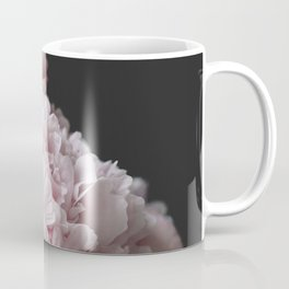 Peonies on black Coffee Mug