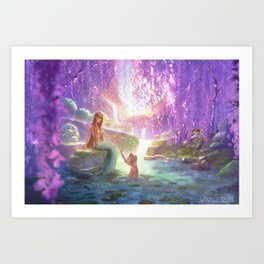 Mermaid's Lair Art Print