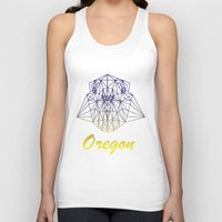 oregon Tank Tops featuring Oregon by ArtsyKiwi