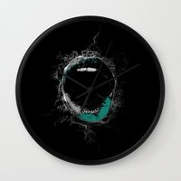 mouth Wall Clocks featuring Mouth by Eponine