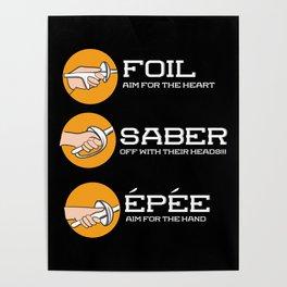 Foil Saber Epee | Fencing Poster