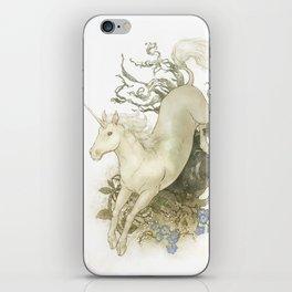 Unicorn and Silver iPhone Skin