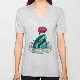 The Zombie Shark Unisex V-Neck