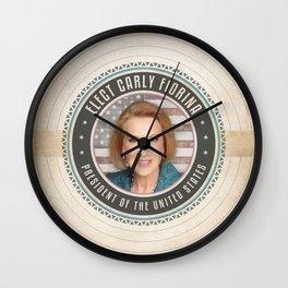 Elect Carly Fiorina Wall Clock