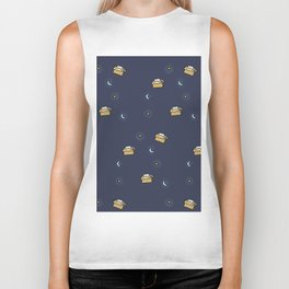 Cat print - Floating Through Space Biker Tank