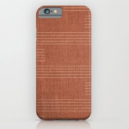 Mudcloth, Minimal, Pattern, Boho Prints, Terracotta iPhone Case