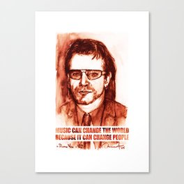 Art Portrait & Quote: Bono Vox Canvas Print