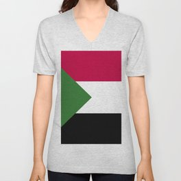 Sudan flag emblem Unisex V-Neck