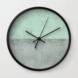 MINT TEAL GRAY CONCRETE CIRCLE Wall Clock