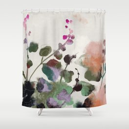 floral abstract summer autumn Shower Curtain