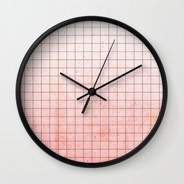 Sweet Pink Geometry Wall Clock