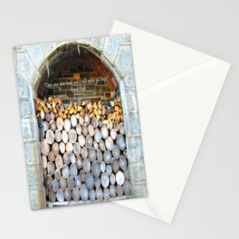 Stack of firewood Stationery Cards