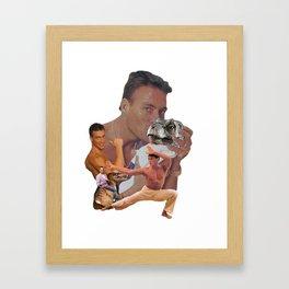 jcvd+dino Framed Art Print