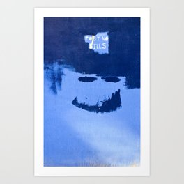 Post No Bills, but smile while doing it Art Print