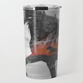 Black Horse Sunset Run Travel Mug