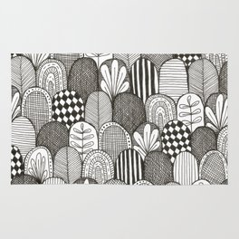 black and white scaley pattern Rug