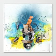 MINGA x Pop Lock it Polka Canvas Print
