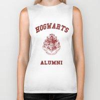 hogwarts Biker Tanks featuring Hogwarts Alumni by RinRin
