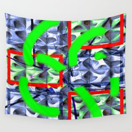 Collage with hollow effect Wall Tapestry