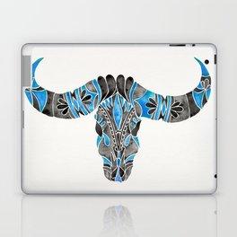 Water Buffalo Skull – Black & Blue Laptop & iPad Skin