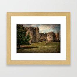 Chepstow Castle Towers Framed Art Print
