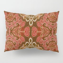 Celtic and Mayan Inspired Neotribal Print Pillow Sham