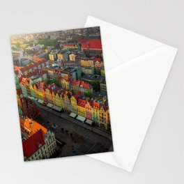 Colorful houses in Wroclaw, Poland Stationery Cards