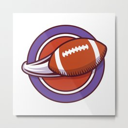 Logo With Footbal in Motion Metal Print