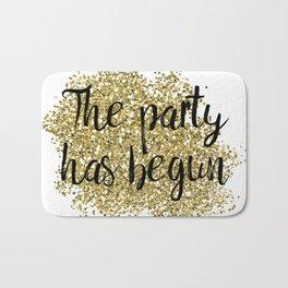 The party has begun - golden jazz Bath Mat