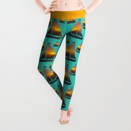 Norman Island Sunset - Sailboats at Sunset Leggings