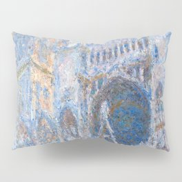 1894-Claude Monet-Rouen Cathedral, West Façade-65 x 100 Pillow Sham