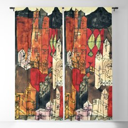 "Paul Klee ""City of Churches"" Blackout Curtain"