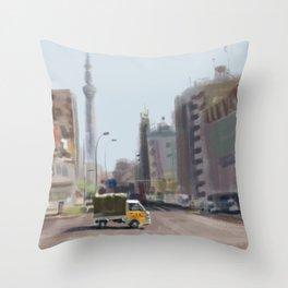 Japanese Truck Throw Pillow