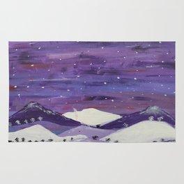 Mountains at night Rug